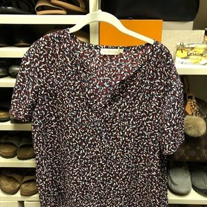 Tory Burch short sleeve pullover blouse